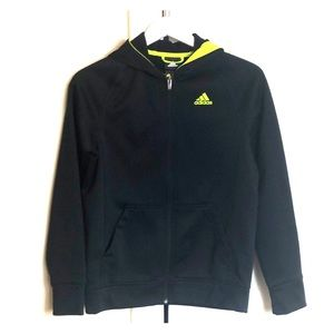 Fleece Lined Adidas Zip Up Hoodie